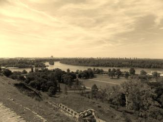 "Belgrado, Agosto 2014 ""Panorama dalla Fortezza"" 35 x 50 cm. Beograd, August 2014 ""View from the Fortress"""